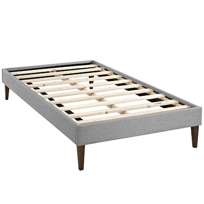 Sharon Platform Bed Size: Twin, Color: Light Gray