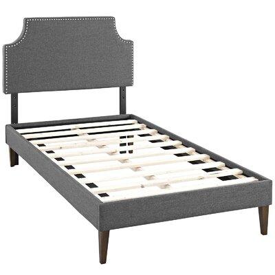 Preciado Upholstered Platform Bed Size: Twin, Color: Gray