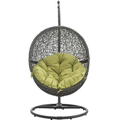 Cloak Swing Chair Color: Gray/Peridot