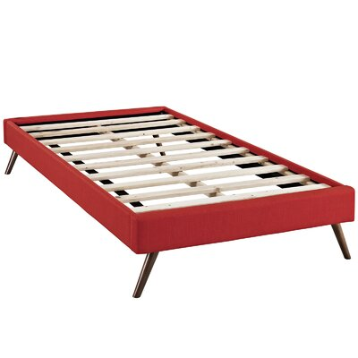 Helen Platform Bed Size: Twin, Color: Atomic Red