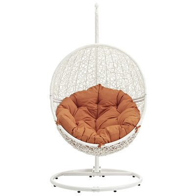 Cloak Swing Chair Color: White/Orange