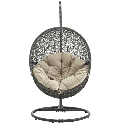 Cloak Swing Chair Color: Gray/Beige
