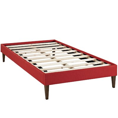 Sharon Platform Bed Size: Twin, Color: Atomic Red