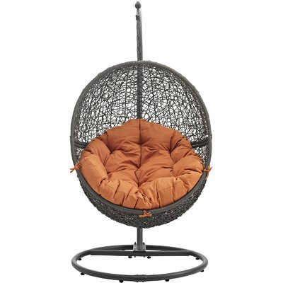 Cloak Swing Chair Color: Gray/Orange