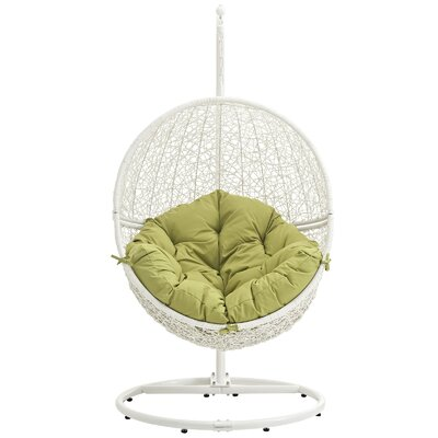Cloak Swing Chair Color: White/Peridot