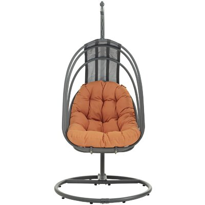 Whisk Swing Chair with Stand Color: Orange