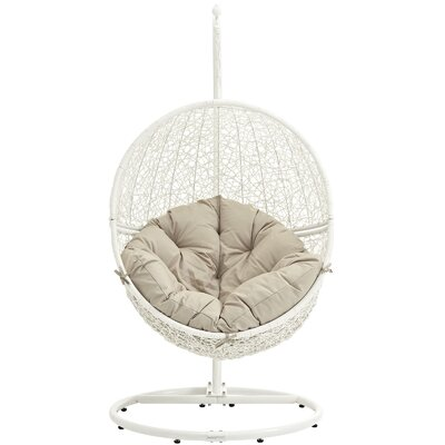 Cloak Swing Chair Color: White/Beige