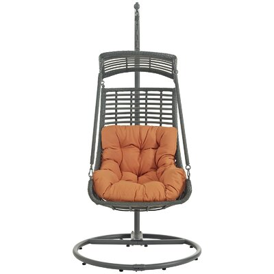 Jungle Swing Chair with Stand Color: Orange