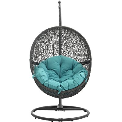 Cloak Swing Chair Color: Gray/Turquoise