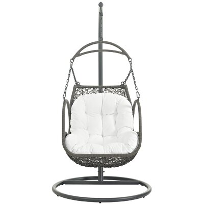 Arbor Swing Chair with Stand Color: White