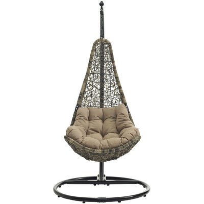 Abate Swing Chair with Stand Color: Black/Mocha