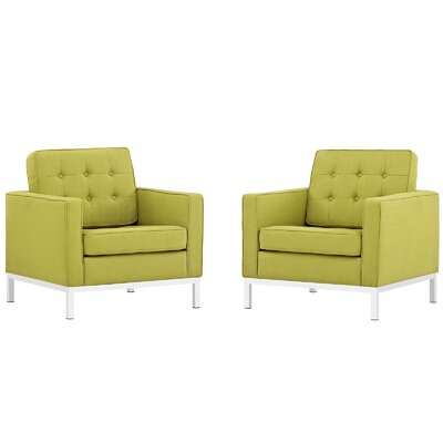 Gayatri Fabric Armchair Color: Wheatgrass