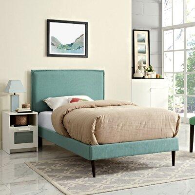 Sardina Upholstered Platform Bed Size: Twin, Color: Laguna