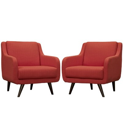 Verve Armchair Color: Atomic Red