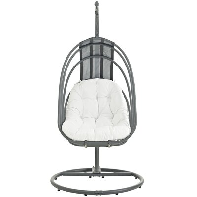 Whisk Swing Chair with Stand Color: White