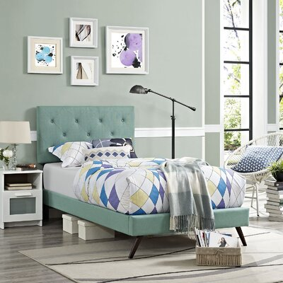 Ziemer Upholstered Platform Bed Size: Queen, Color: Laguna
