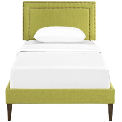 Eyre Upholstered Platform Bed Size: Twin, Color: Wheatgrass
