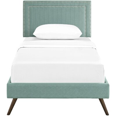 Eyre Upholstered Platform Bed Size: Full, Color: Laguna