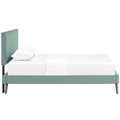 Preiss Upholstered Platform Bed Size: Twin, Color: Laguna