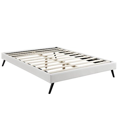Helen Platform Bed Size: King, Color: White