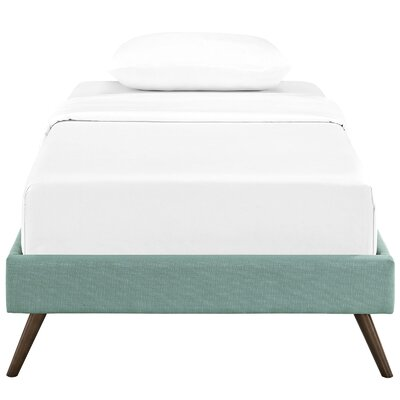 Helen Platform Bed Size: Full, Color: Laguna