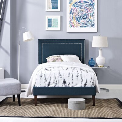 Eyre Upholstered Platform Bed Size: Full, Color: Azure