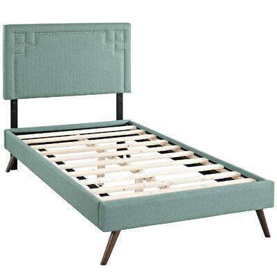 Kerley Upholstered Platform Bed Size: Twin, Color: Laguna