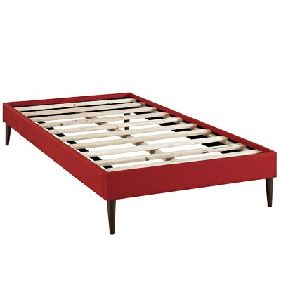 Sherry Platform Bed Size: Twin, Color: Atomic Red