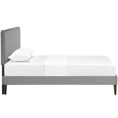 Sardina Upholstered Platform Bed Size: Twin, Color: Light Gray