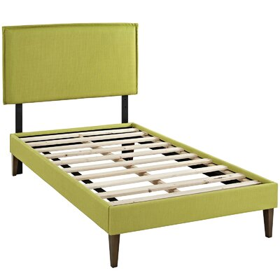 Sardina Upholstered Platform Bed Size: Twin, Color: Wheatgrass