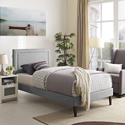 Eyre Upholstered Platform Bed Size: Twin, Color: Light Gray