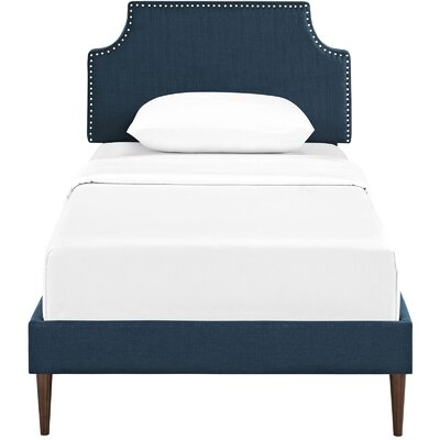 Preciado Upholstered Platform Bed Size: Twin, Color: Azure