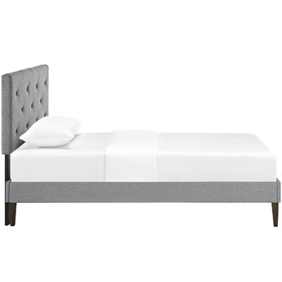 Ziemer Upholstered Platform Bed Size: Twin, Color: Light Gray