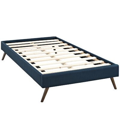 Helen Platform Bed Size: King, Color: Azure