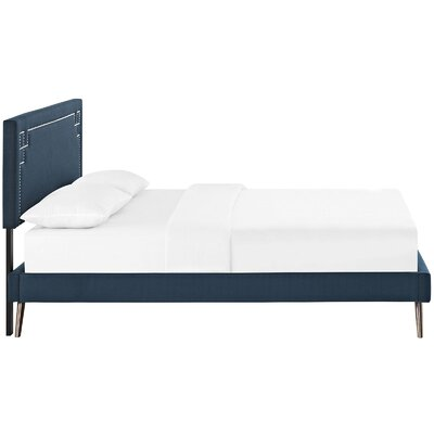 Kerley Upholstered Platform Bed Size: King, Color: Azure