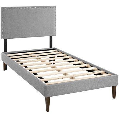 Phoebe Upholstered Platform Bed Size: Twin, Finish: Light Gray