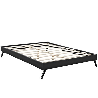 Helen Platform Bed Size: King, Color: Black