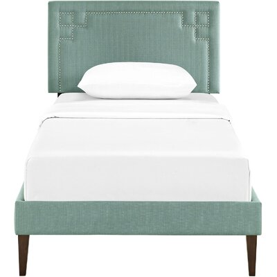 Kerley Upholstered Platform Bed Size: Twin, Color: Laguna