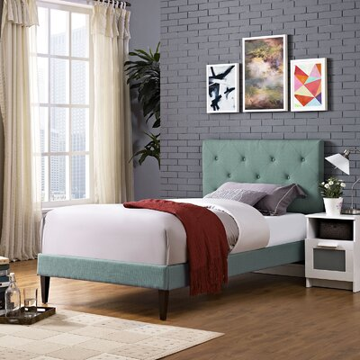 Ziemer Upholstered Platform Bed Size: Twin, Color: Laguna