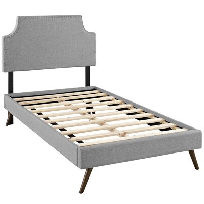 Preciado Upholstered Platform Bed Size: Twin, Color: Light Gray