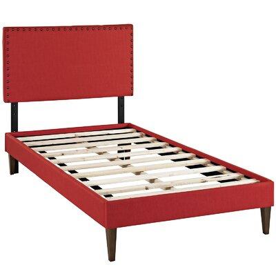 Phoebe Upholstered Platform Bed Size: Twin, Finish: Atomic Red