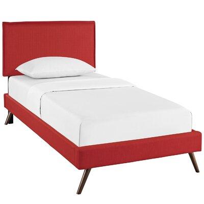 Sardina Upholstered Platform Bed Size: Twin, Color: Atomic Red