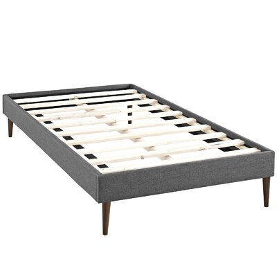 Sherry Platform Bed Size: King, Color: Gray
