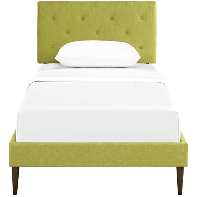 Ziemer Upholstered Platform Bed Size: Twin, Color: Wheatgrass