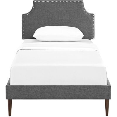 Preciado Upholstered Platform Bed Size: Twin, Color: Gray
