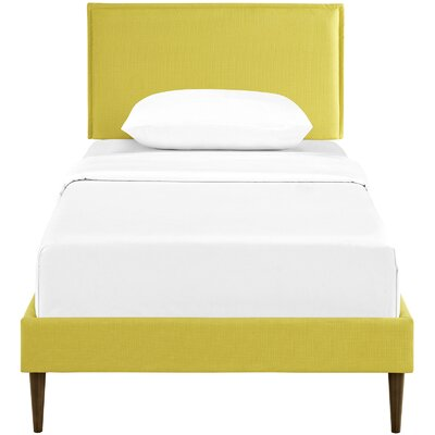 Sardina Upholstered Platform Bed Size: Twin, Color: Sunny