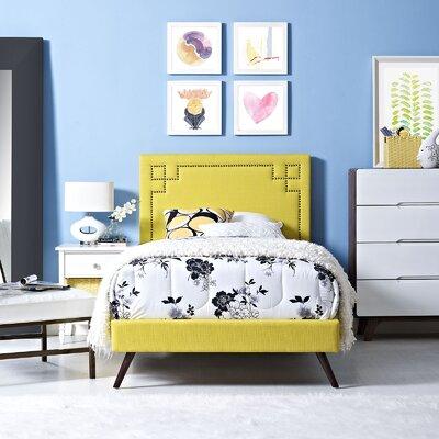 Kerley Upholstered Platform Bed Size: Twin, Color: Sunny
