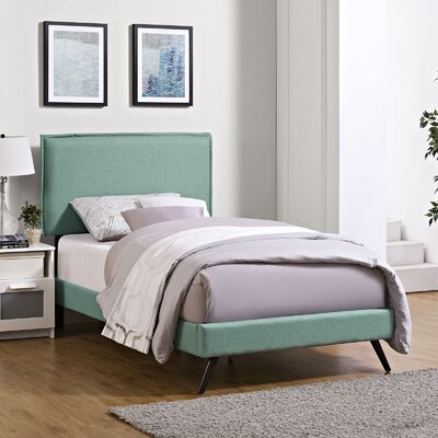 Sardina Upholstered Platform Bed Size: Twin, Color: Laguna