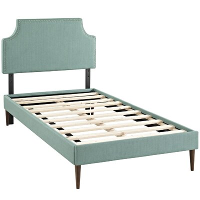 Laura Upholstered Platform Bed Size: Twin, Finish: Laguna