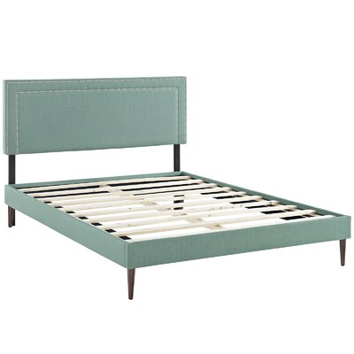 Eyre Upholstered Solid Wood Platform Bed Size: Full, Finish: Laguna